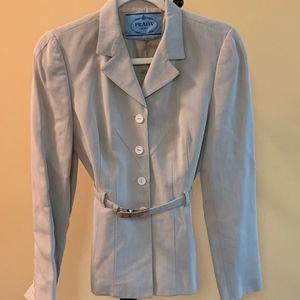 Beautiful Prada Tan Blazer/Skirt Suit